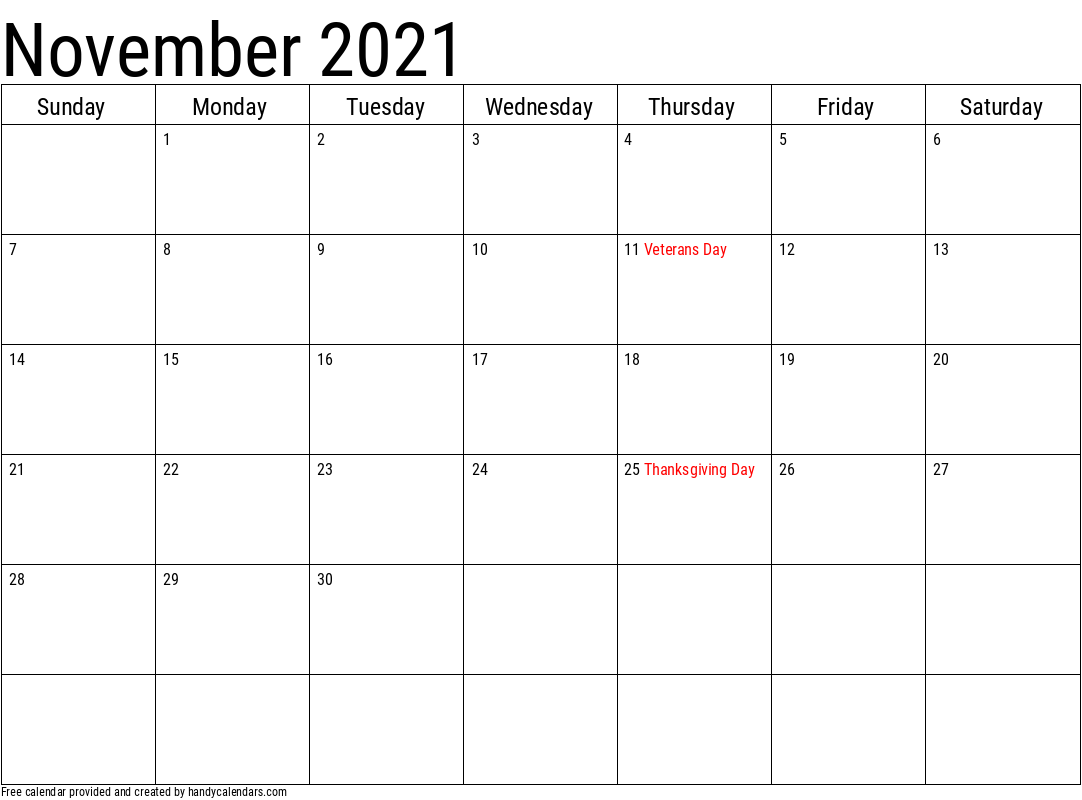 2020 Calendar With Holidays Templates Handy Calendars